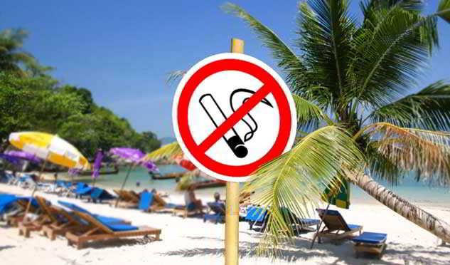 Тайланд курение на пляже