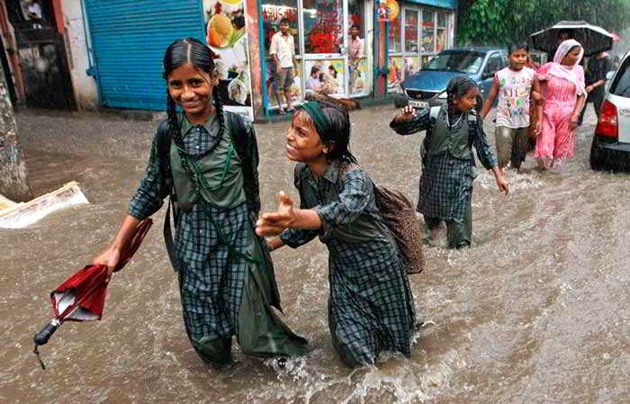дождь студенты